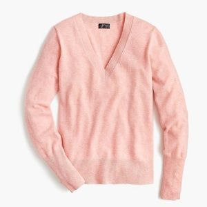 J crew ad468 vneck cashmere fitted everyday sweate